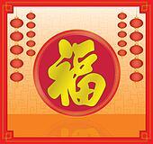 Chinese new year decoration background