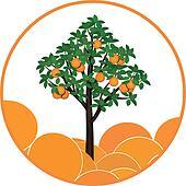 orange tree art ile ilgili görsel sonucu