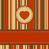 Lovely stripy card 70s retro template. EPS 8