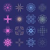 Diverse styles of Art Nouveau Style Symbol Sets. Original Patter