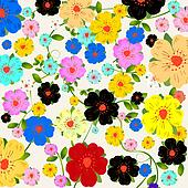 Floral fantasy background