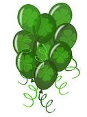 Balloons with Confetti for St. Patricks Day  Party