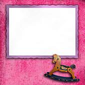 Baby pink photo frames