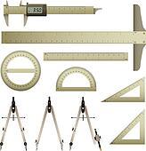 Ruler Mathematics Instrument