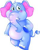 A young blue elephant