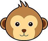 Cute Monkey Vector