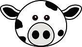 Cute Cow Face