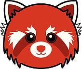 Cute Red Panda Vector