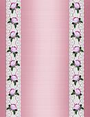 Pink satin lace and roses template