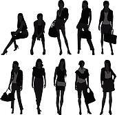 Woman Female Girl Shopping Model