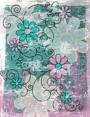 Grungy Floral Background #2