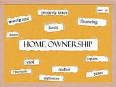 Home Ownership Corkboard Word Concept