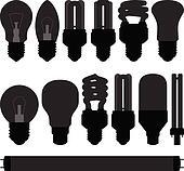 Lightbulb light bulb lamp set