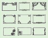 Art Nouveau Horizontal Frame Set