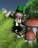 Irish Leprechaun holding a tankard