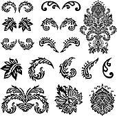 Vector Victorian Ornament Set