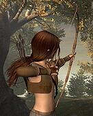 Young Elven Hunter in the forest