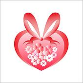 heart from flowers