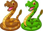 Cartoon rattle snake