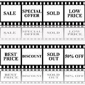 Sale announcement on filmstip
