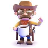 3d Cowboy coffee break