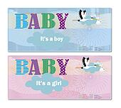 2  baby shower invitation blue, ros