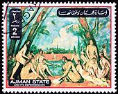 Paul Cezanne, Large Bathers Baigneuse.  Ajman State is part of the United Arab Emirates.