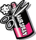Hairspray Bottle And Scissors