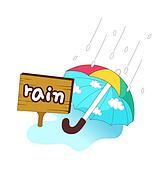 A view of umbrella