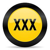 xxx black yellow web icon