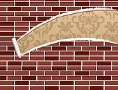 Ripped brick wall
