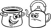 pot calling the kettle black cartoon