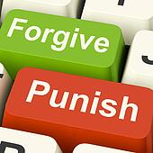 Punish Forgive Keys Shows Punishment or Forgiveness