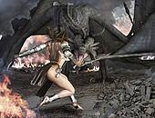 Dragon Slayer female sexy warrior