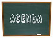 Agenda Schedule Word Chalkboard School Class Lesson Education