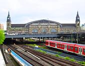 Train station of Hamburg, Germany