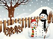 Snowmen in the Country