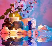 preparation for bath massage