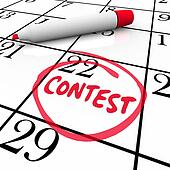 Contest Calendar Date Circled Reminder Entry Deadline Win