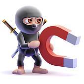 3d Ninja magnet