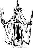 Wizard old illustration