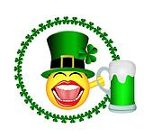 St Patrick's Day Smiley Face Beer