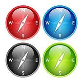 Compass button