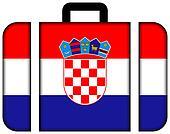 Suitcase with Croatia Flag