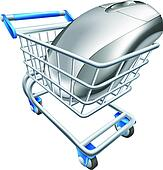 Computer mouse in trolley