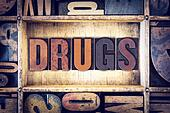 Drugs Concept Letterpress Type