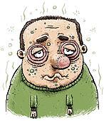 Sad and Sick Man