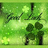 Square greeting card Good Luck