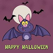 Smiling Vampire Bat Greeting Card