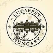 stamp with Budapest, Hungary